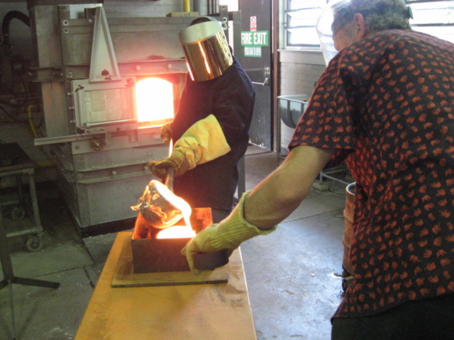 sand casting from the furnace