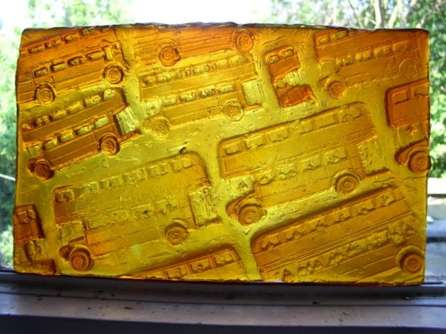 cast glass panel.